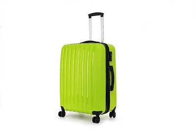 Пластиковый чемодан на колесах Hippo 78 л Зеленый