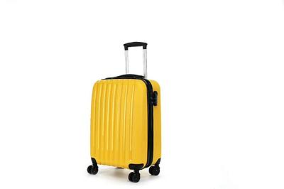 Пластиковый чемодан на колесах Hippo 78 л Желтый