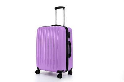Пластиковый чемодан на колесах Hippo 78 л Фиолетовый