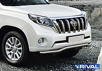 Защита переднего бампера d57 волна + комплект крепежа, RIVAL, Toyota Land Cruiser Prado 2009-2013-2017