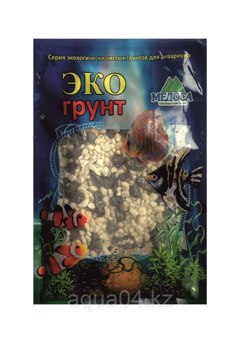 Грунт Кварц чёрно-белый ГАВАЙИ 2-4 мм