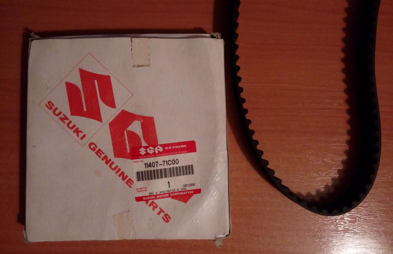 Ремень зубчатый ГРМ 12761-71С00 оригинал Suzuki 103RU25 УСИЛЕННЫЙ ( H-NBR )