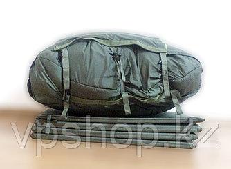 Армейский утепленный трехслойный спальный мешок с карематом в комплекте, доставка