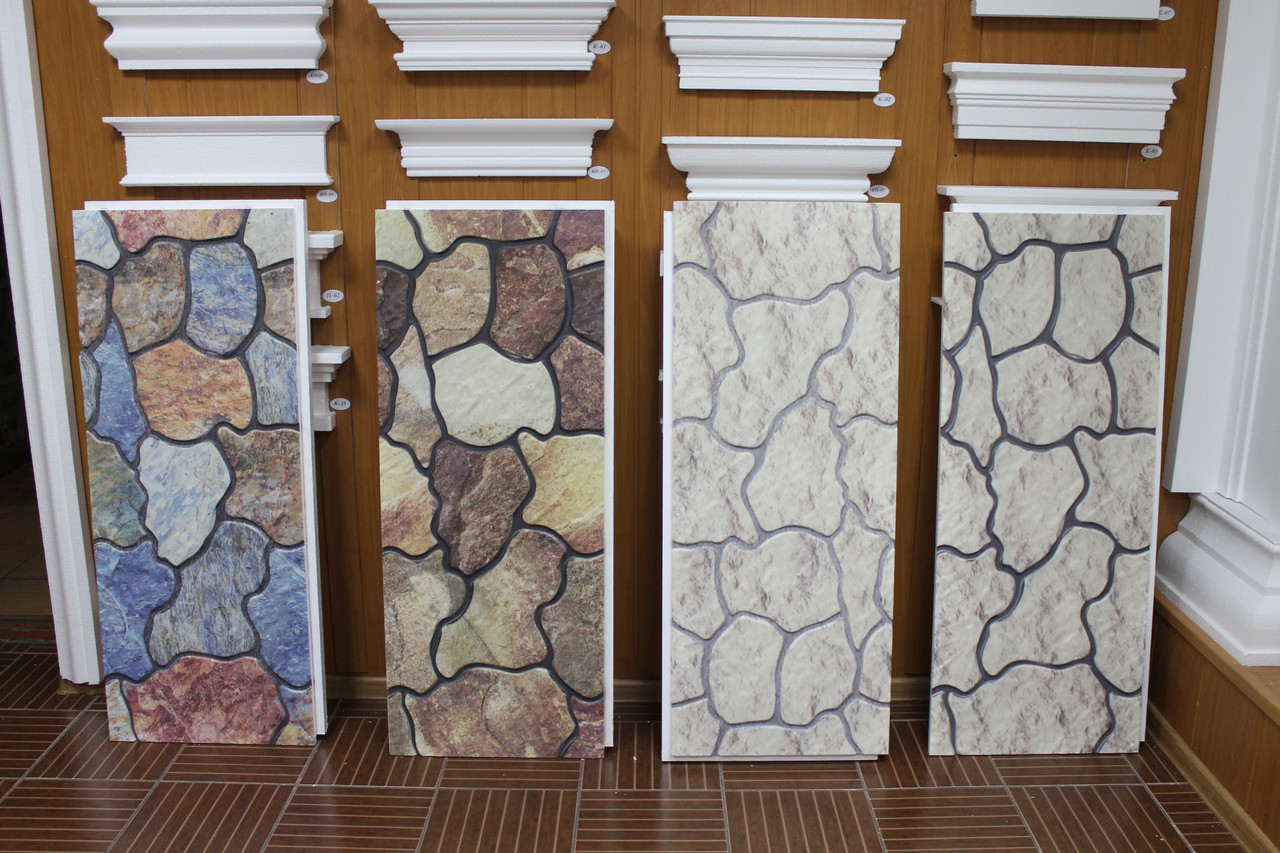 Фасадные панели с имитацией сланцевого камня