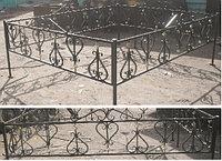 Металлические ограды на кладбище