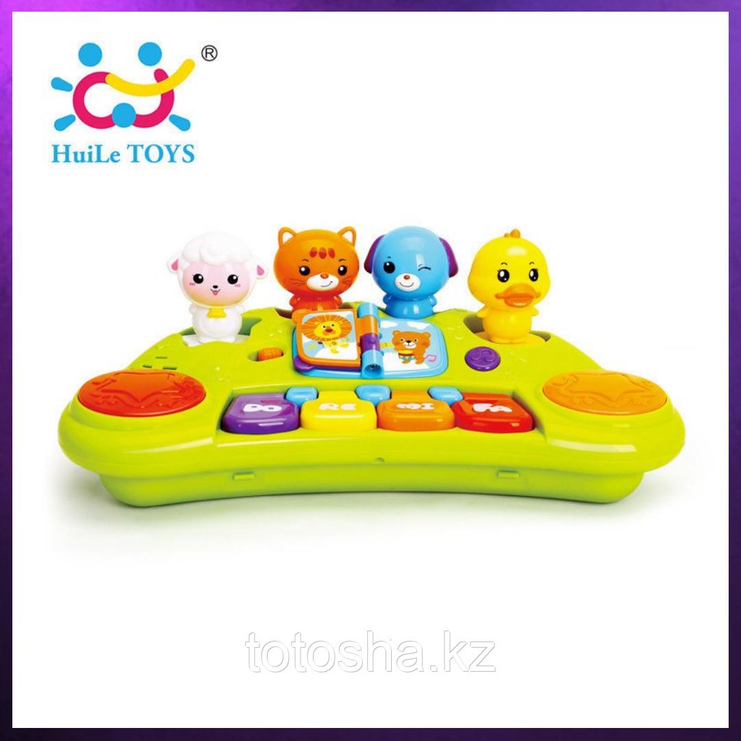Huile Toys Пианино с забавными животными