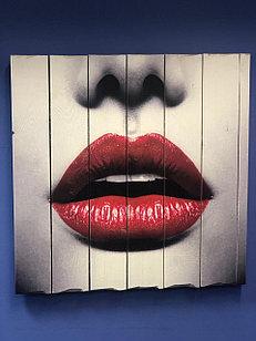 Картина «Губы» 60×60 см