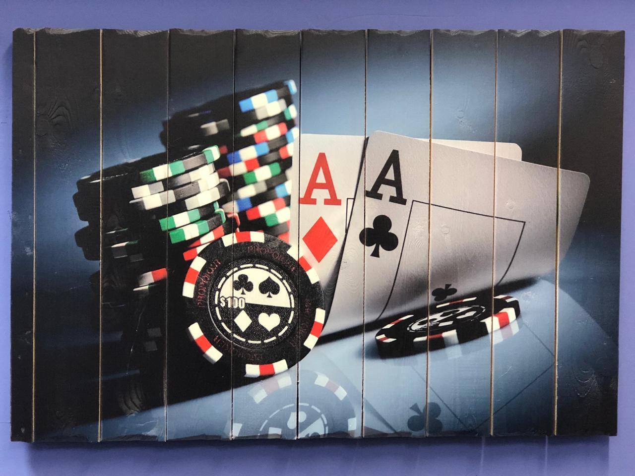 Картина «Покер» 90×60 см