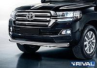 Защита переднего бампера d76 + комплект крепежа, RIVAL, Toyota Land Cruiser 200 2015-