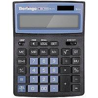 """Калькулятор настольный Berlingo""""City Style"""" 16 разрядный CIB_216 чёрный/голубой"""