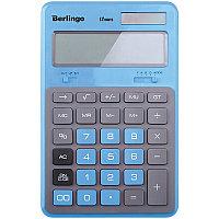 """Калькулятор настольный Berlingo """"Hyper"""", 12 разр., двойное питание, 171*108*12, синий CIB_200"""