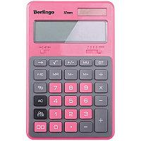 """Калькулятор настольный Berlingo """"Hyper"""", 12 разр., двойное питание, 171*108*12, розовый CIP_200"""