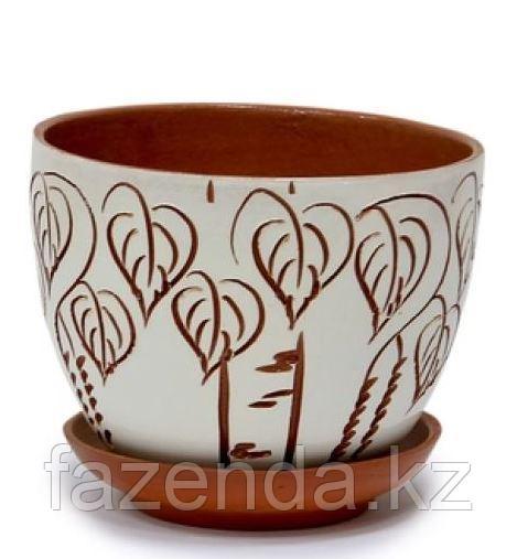 Горшок керамический Берёзка №2
