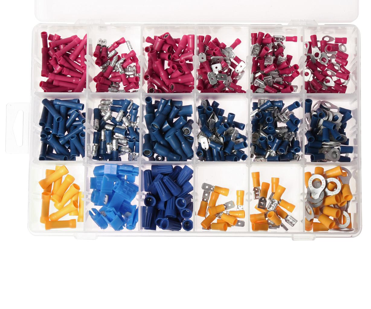 JTC Набор клемм электропроводки изолированных 18 типоразмеров (в боксе) 530шт. JTC - фото 2