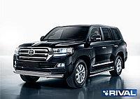 Защита переднего бампера d76+d57 + комплект крепежа, RIVAL, Toyota Land Cruiser 200 2015-
