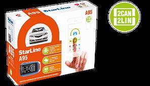 StarLine A95 BT 2CAN+2LIN, 2 пульта, Bluetooth, модуль CAN-LIN в комплекте