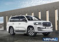 Защита переднего бампера d76 + комплект крепежа, RIVAL, Toyota LC200 Excalibur 2017-