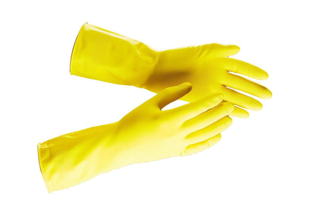 Перчатки латексные хозяйственные,  M, L.  1 пара/уп, 240 пар /кор.