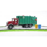 Мусоровоз MACK (зелёный фургон, красная кабина) 02-812, фото 1