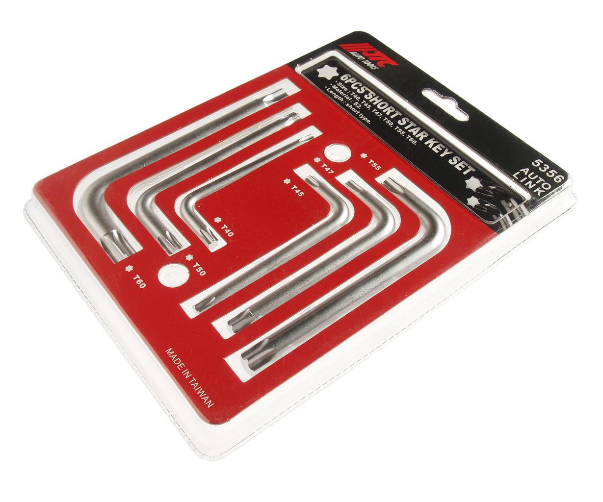 JTC Набор ключей TORX T40-T60 Г-образных 6 предметов JTC