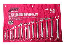 JTC Набор ключей комбинированных 6-21мм 15 предметов в сумке JTC