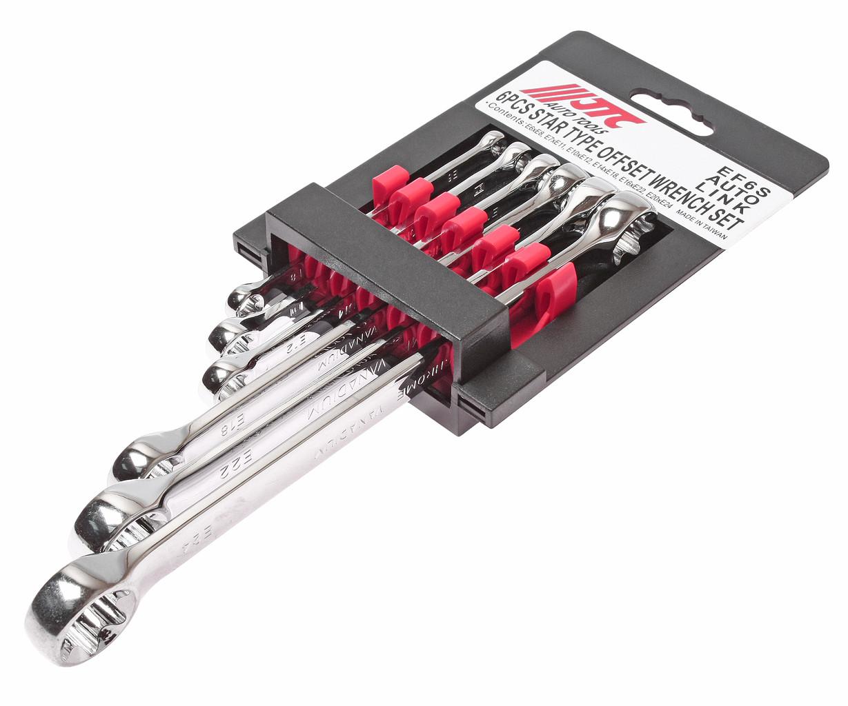 JTC Набор ключей накидных TORX Е6-E24 6 предметов JTC