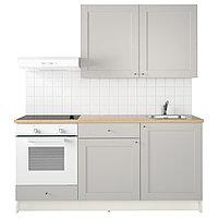 Кухня КНОКСХУЛЬТ серый 180x61x220 см ИКЕА, IKEA, фото 1