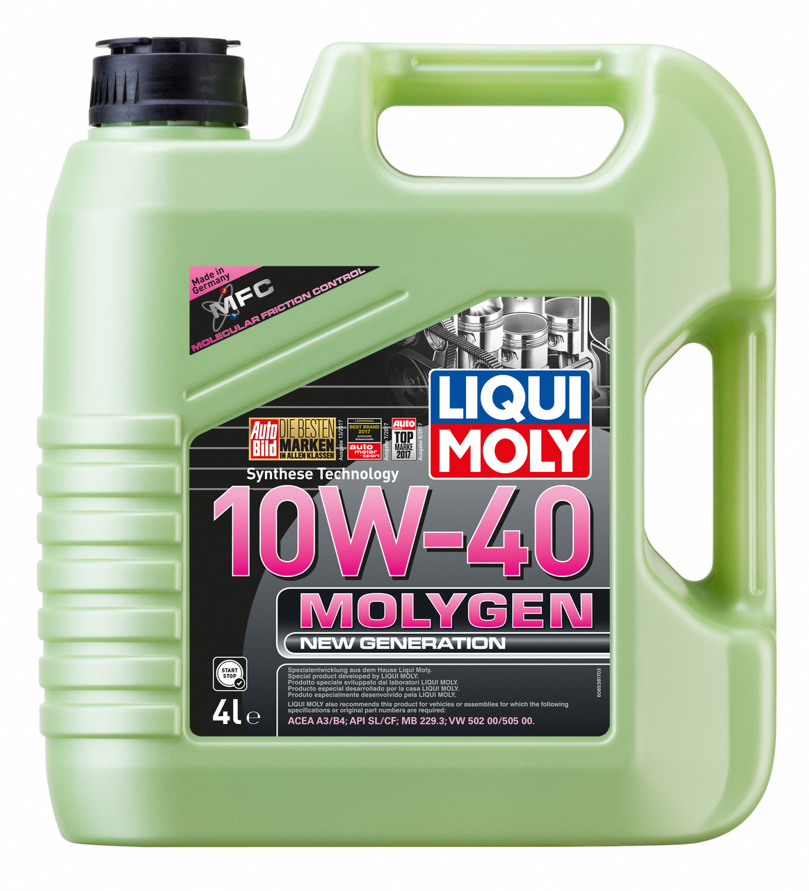 Моторное масло Molygen New Generation 10W-40,4L, LIQUI MOLY