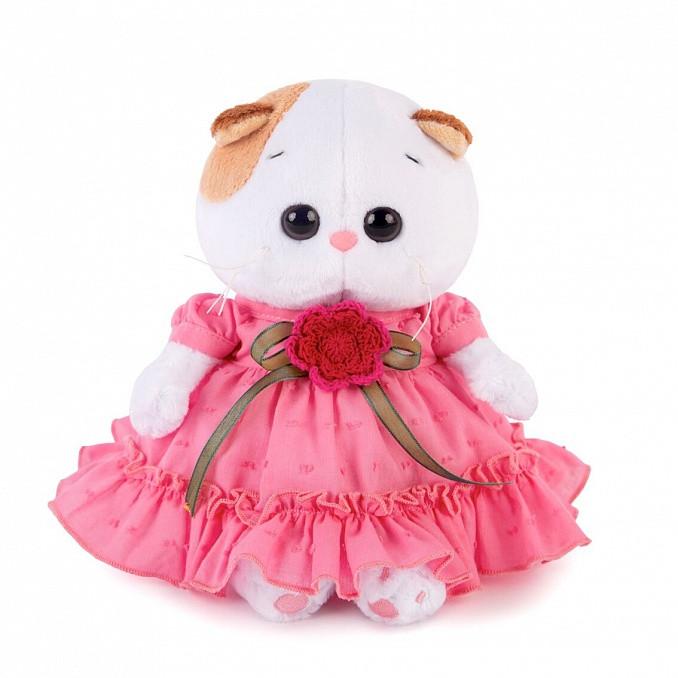 """Мягкая игрушка """"Ли-Ли Baby в платье с вязаным цветочком"""", 20 см"""