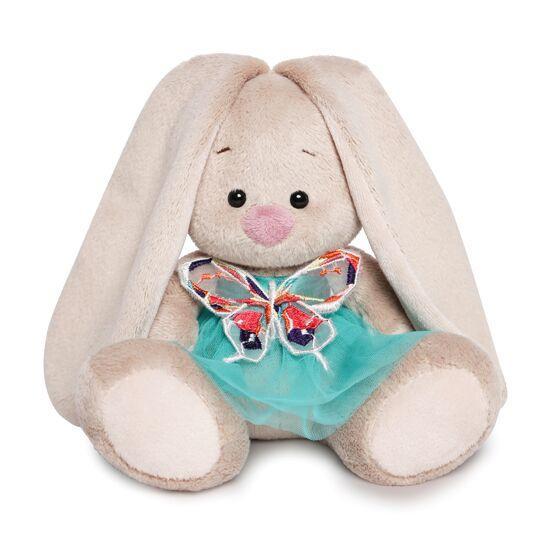 """Мягкая игрушка """"Zaika Mi"""" Зайка Ми в бирюзовой юбочке с бабочкой (малыш)"""
