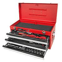 JTC Набор инструментов 65 предметов слесарно-монтажный в переносном инструментальном ящике (3 лотка) JTC