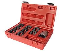 JTC Набор инструментов для восстановления резьбы оси ШРУСа (М24х2.0-М20х1.25, 3/4х20) в кейсе JTC, фото 1