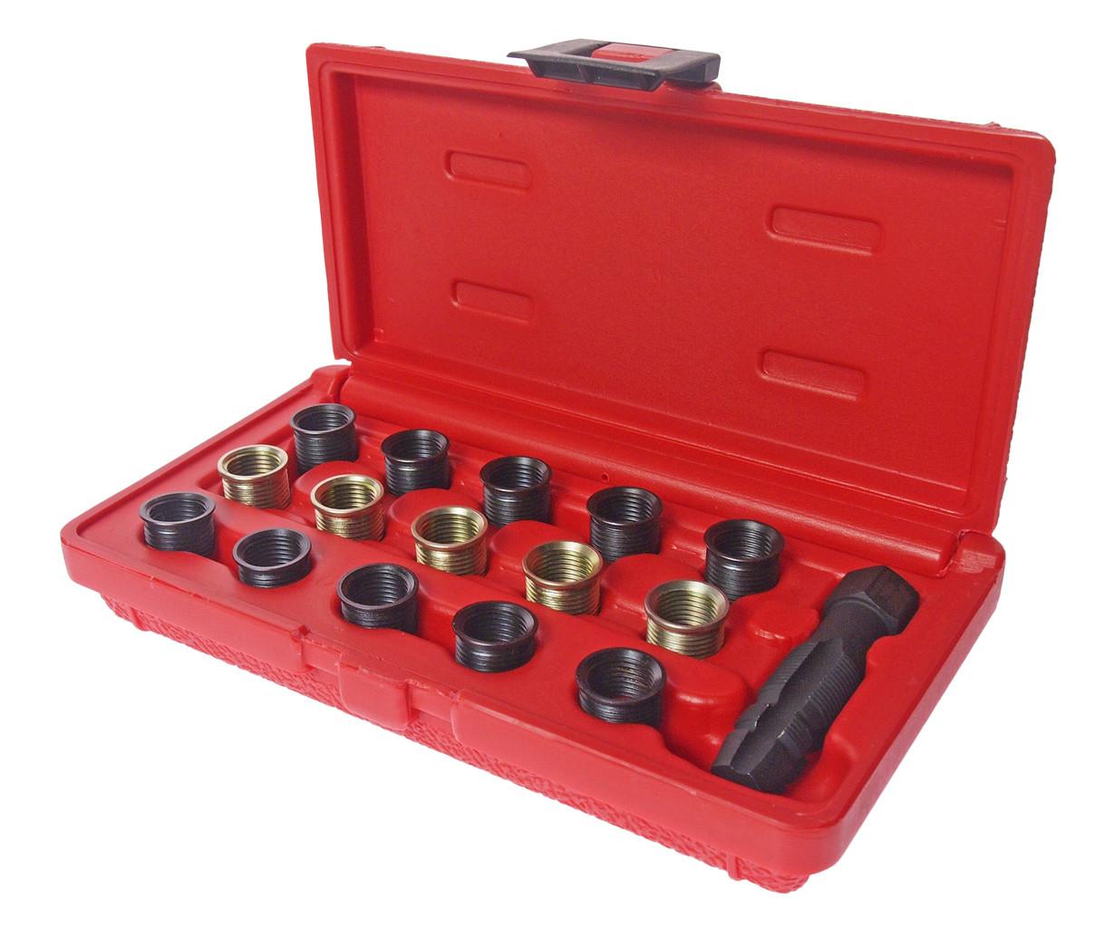 JTC Набор инструментов для восстановления резьбы свечей зажигания (втулки М14х1.25 L=11.2мм,17.5мм) JTC