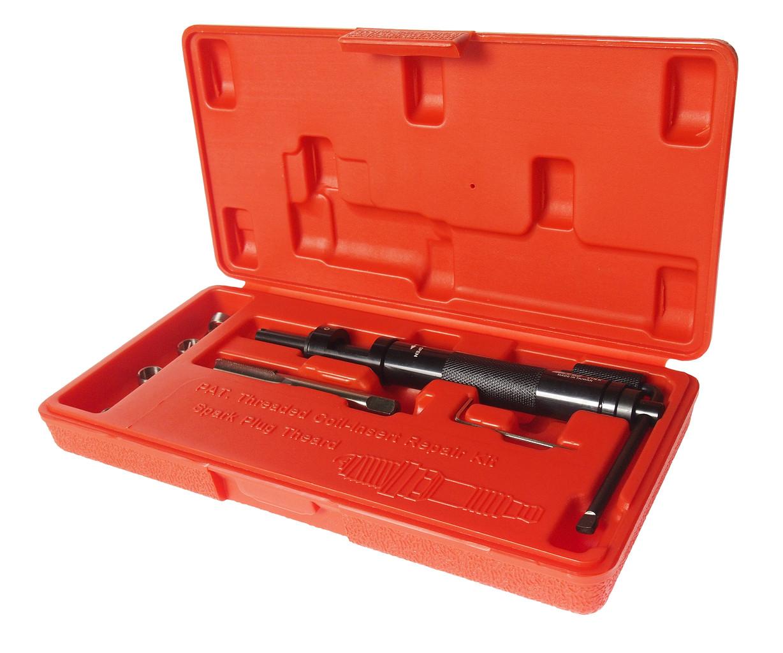 JTC Набор инструментов для восстановления резьбы свечей зажигания (пружинная вставка М10х1.0) 5шт. JTC