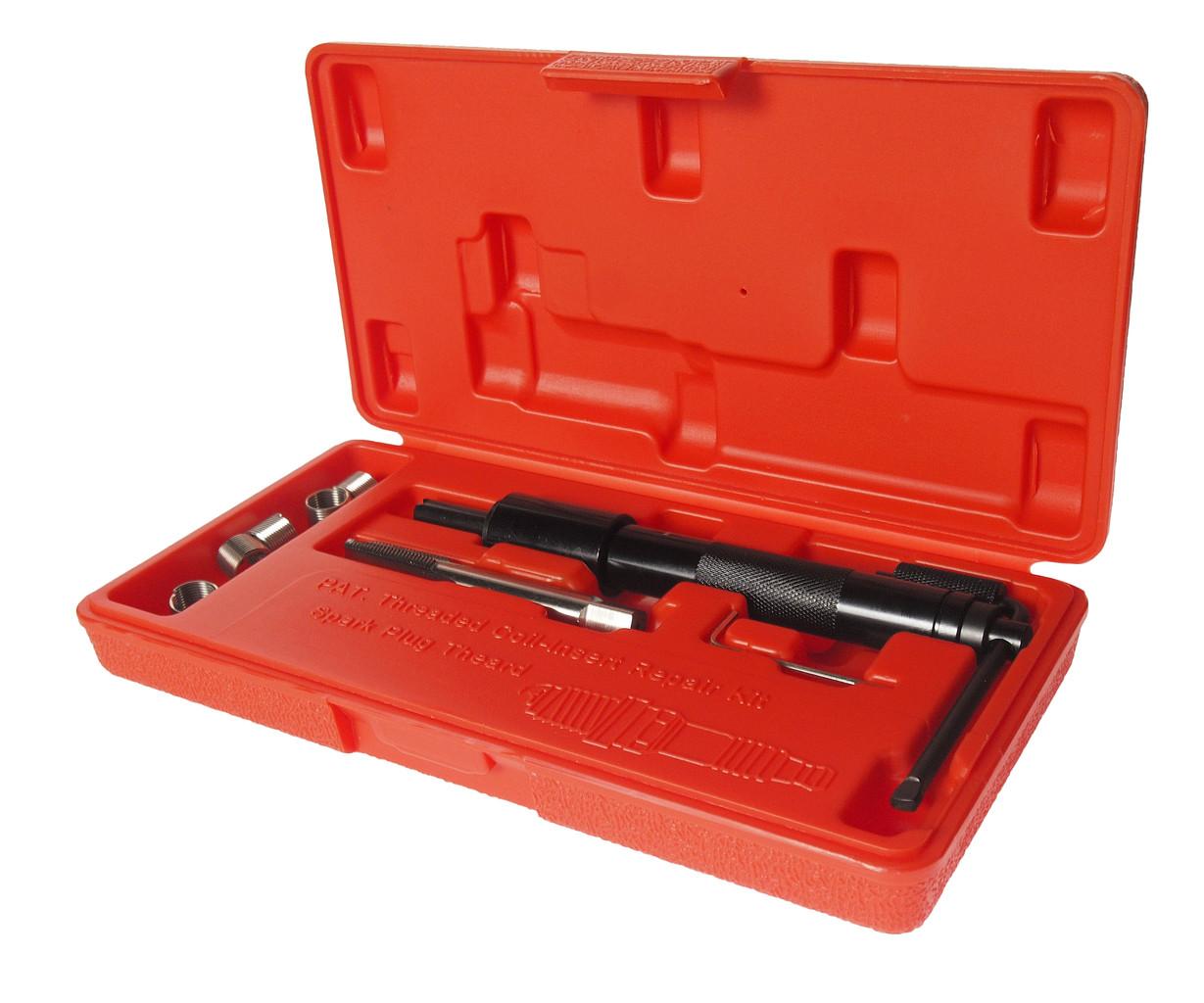 JTC Набор инструментов для восстановления резьбы свечей зажигания (пружинная вставка М12х1.25) 5шт. JTC