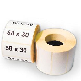 Термоэтикетка самоклеющаяся 58*30 мм (800 эт/рул)