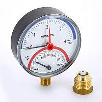 Термоманометр 80 мм Watts (Нижний)