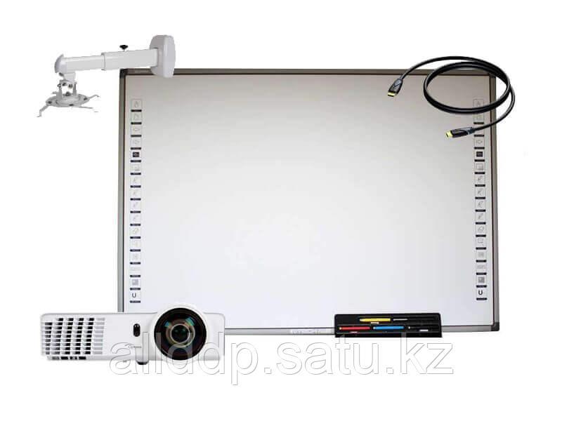 Комплект  InTech+ Optoma Комплект Интерактивная доска SR83D с лотком+ Optoma X305ST
