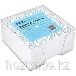 Блок для записи OfficeSpace. 9 см х 9 см х 4,5 см, пластиковый бокс, белый