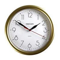 Часы настенные круглые 'Исток', d24,5 см, золотистые