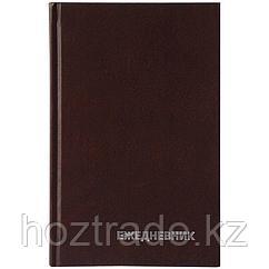 Ежедневник OfficeSpace, А5, недатированный, 160 листов, бумвинил, коричневый