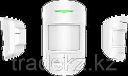 Комбинированный датчик движения и разбития стекла с иммунитетом к животным Ajax CombiProtect, белый