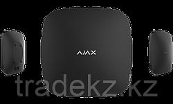 Интеллектуальная централь системы безопасности Ajax Hub Plus, черный, Ethernet, Wi-Fi, 3G, две SIM-карты