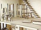 Кукольный домик из фанеры с мебелью., фото 5