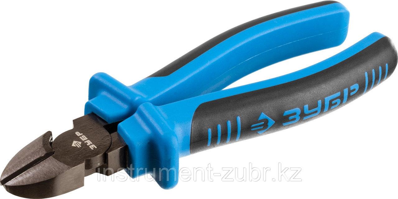 Бокорезы ЗУБР особостойкое спец. покрытие Н12Х1 (никель/хром), двухкомпонентные рукоятки, 160мм