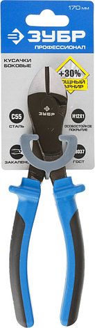 Бокорезы усиленные ЗУБР особостойкое спец. покрытие Н12Х1 (никель/хром), двухкомпонентные рукоятки, 170мм, фото 2