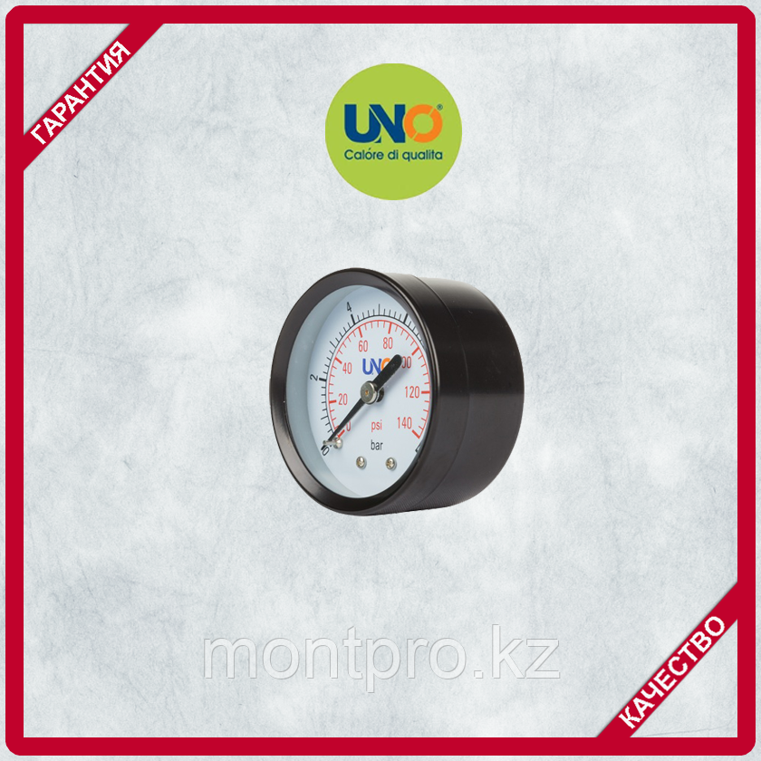 Манометр UNO диаметр 50мм 0-10 bar, осевое соединение