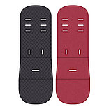 Коляска-трансформер Lorelli S500 + накидка на ножки Черный-красный/ Black&Red 1800, фото 4