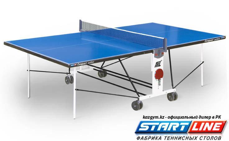 Всепогодный теннисный стол Start Line Compact Outdoor LX с сеткой - фото 1