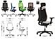 Кресло Absolut R Net HR Black WA AL70, фото 3